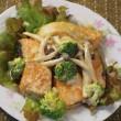 鮭としめじのマヨソース和え~野菜たっぷりで栄養バランス良し、彩り良し~