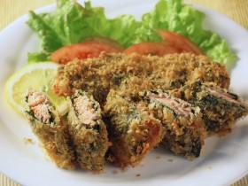 鮭とほうれん草のフライ~野菜嫌いの方にもどうぞ~