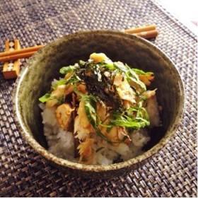 生姜醤油が香ばしい 焼きサバご飯
